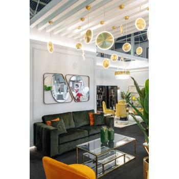 Велюровый трёхместный раскладной диван Ralph Зеленый  232*103*90см V.Ka34