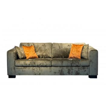 Велюровый трёхместный раскладной диван Ralph Серо-зелёный 232*103*90см Cru10