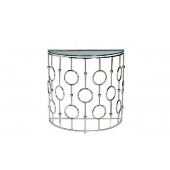Консоль прозрачное стекло/хром GY-CST8040