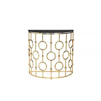 Консоль черное стекло/золото GY-CST8040GOLD