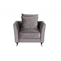 Кресло Sorrento, велюр серый Н-Йорк112 98*101*88см
