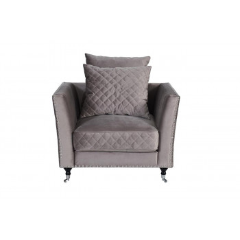 Велюровое кресло серое мягкое Sorrento 98*101*88см арт. Н-Йорк112