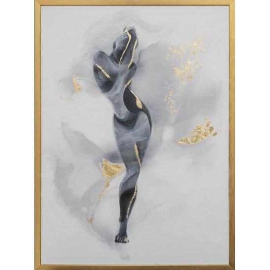 Холст Танец 50*70см, багет золотой 89VOR-AQUARELLE13 в интернет-магазине ROSESTAR фото
