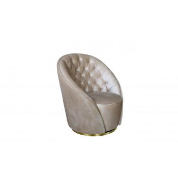 Кресло вращающееся велюровое кремовое 87YY-1959 CRE