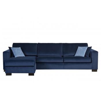 Комплект мебели №23: Модульный диван трехместный угловой раскладной с канапе Ralph Левый Синий + подушки Gen35