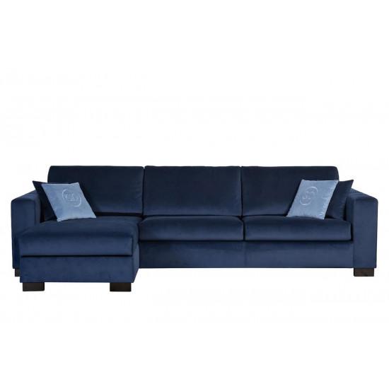 Комплект мебели №23: Модульный диван трехместный угловой раскладной с канапе Ralph Левый Синий + подушки Gen35 в интернет-магазине ROSESTAR фото