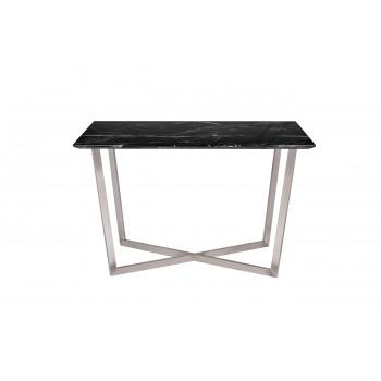 Стол обеденный прямоугольный черный (искусственный мрамор) 33FS-DT19F335-BS