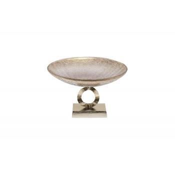 Чаша стеклянная на металлическом основании золотистая 71PN-3534