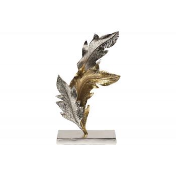 """Статуэтка """"Листья"""" металлическая золото/хром 71PN-1836"""