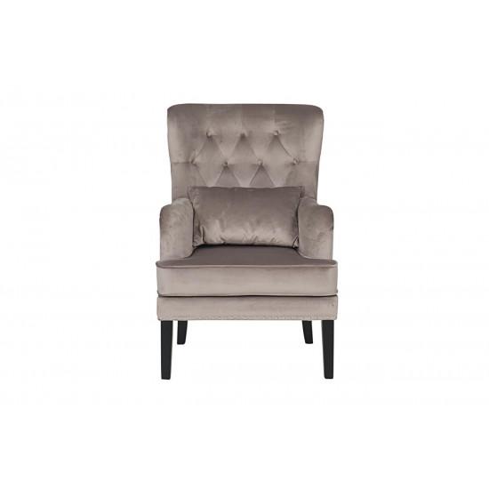 Кресло Rimini велюровое крем-брюле RIMINI-2K-КР-БРЮЛЕ Bel42 в интернет-магазине ROSESTAR фото