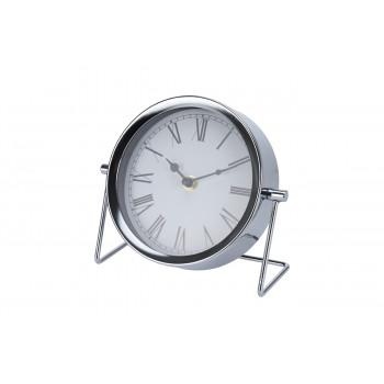 Часы настольные металлические серебряные NBE000040