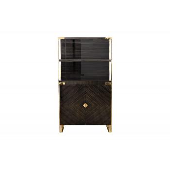 Витрина Golden Prism коричневая/золото 84HB-VI319H2