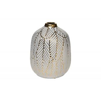 Ваза керамическая с золотым принтом 18H2861-20