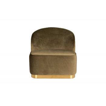 Кресло велюровое XXL темно-оливковое с золотом 46AS-AR3330-DOLV