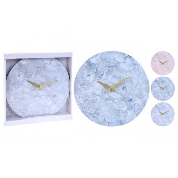 Часы настенные с декором под мрамор Y36400610