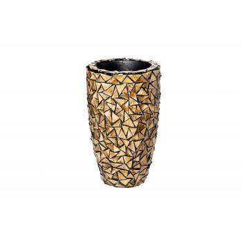Кашпо перламутровая мозаика золотисто-коричневое ZS995-22