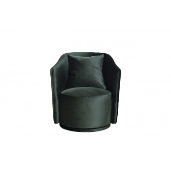 Кресло Verona вращающееся велюровое зеленое/золото VERONA-2K-ЗЕЛЕНЫЙ-Bel37