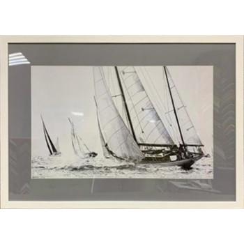 """Постер """"Корабли и яхты-2"""" в белом багете 89VOR-SEA2"""