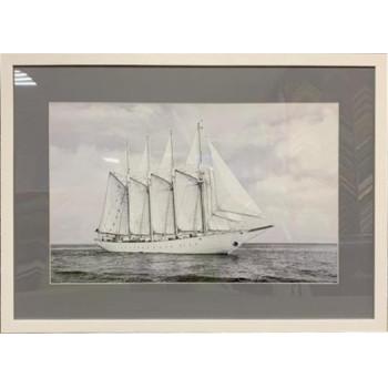 """Постер """"Корабли и яхты-3"""" в белом багете 89VOR-SEA3"""