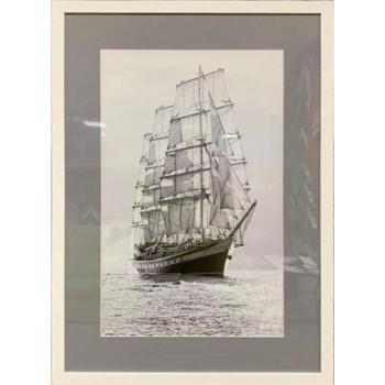"""Постер """"Корабли и яхты-4"""" в белом багете 89VOR-SEA4"""