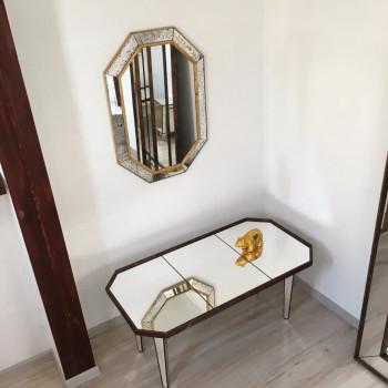 Зеркало восьмиугольное в раме Julian gold Состаренное золото