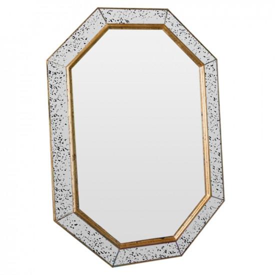 Зеркало восьмиугольное в раме Julian gold Состаренное золото в интернет-магазине ROSESTAR фото