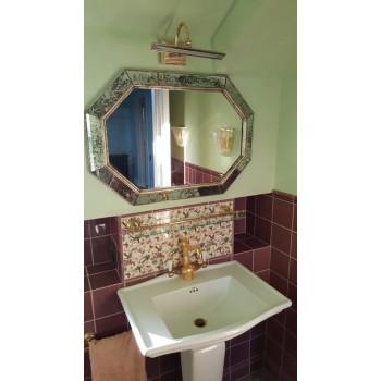 Зеркало восьмиугольное в серебряной раме Julian