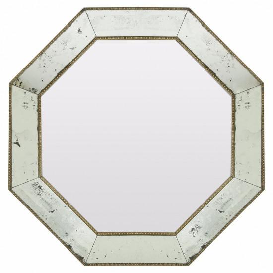 Зеркало восьмиугольное в серебряной раме King в интернет-магазине ROSESTAR фото
