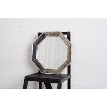 Зеркало восьмиугольное в серебряной раме Antique Silver
