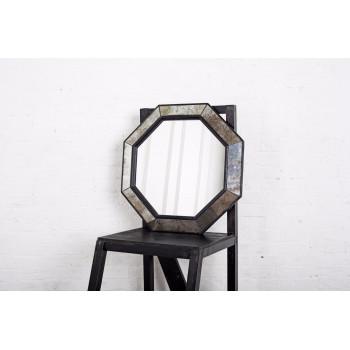 Зеркало восьмиугольное в чёрной раме Black Swan
