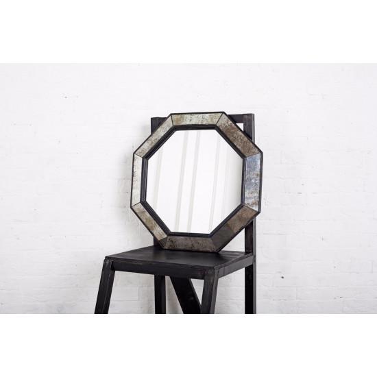 Зеркало восьмиугольное в чёрной раме Black Swan в интернет-магазине ROSESTAR фото