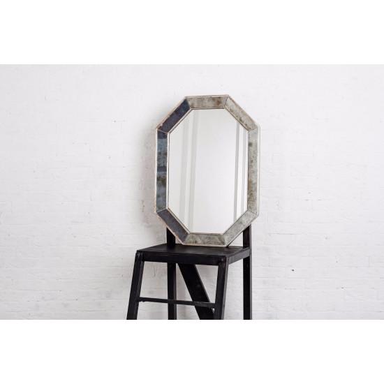 Зеркало восьмиугольное в серебряной раме Ludovic