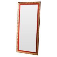 Зеркало напольное и настенное большое в полный рост в красно-золотой раме Burlesque