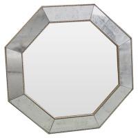 Зеркало восьмиугольное King gold cant Золото-серебро