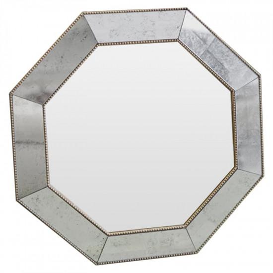 Зеркало восьмиугольное King gold cant Золото-серебро в интернет-магазине ROSESTAR фото