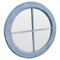 Зеркало окошко круглое в голубой раме Blue sky