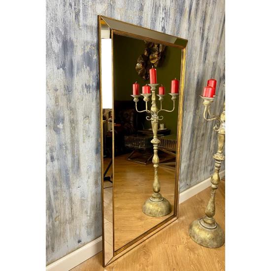 Зеркало большое напольное и настенное в полный рост в зеркальной раме Miriada Gold в интернет-магазине ROSESTAR фото