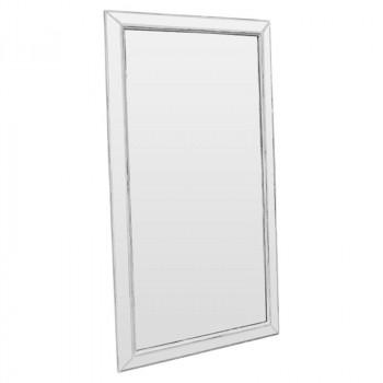 Зеркало большое напольное и настенное в полный рост в раме Miriada Серый прованс