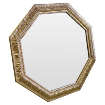 Зеркало восьмиугольное в золотой раме Sparkle