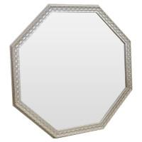 Зеркало восьмиугольное в серебряной раме Silver light