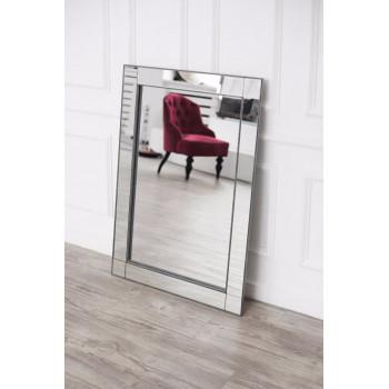 Зеркало в серебряной зеркальной раме Silver irresistibility