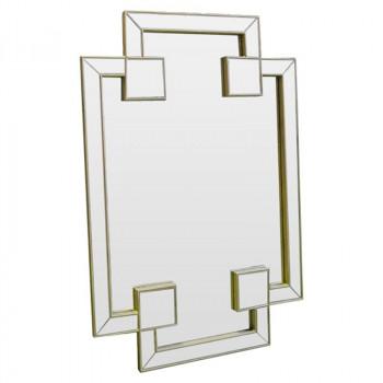 Зеркало восьмиугольное фигурное в золотой раме Pompous bliss gold