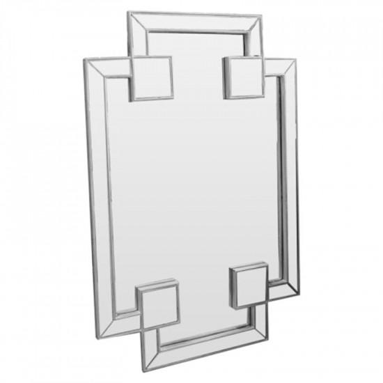 Зеркало восьмиугольное фигурное в зеркальной раме Pompous bliss silver в интернет-магазине ROSESTAR фото