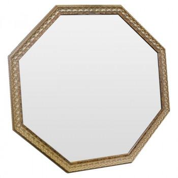 Зеркало восьмиугольное в золотой раме Golden Light