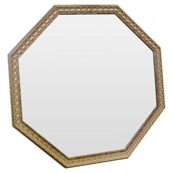 Зеркало восьмиугольное в золотой раме Golden Light в интернет-магазине ROSESTAR фото