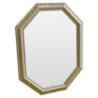 Зеркало восьмиугольное в золотой раме Golden luxury