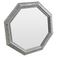 Зеркало восьмиугольное в серебряной раме Sparkle Silver
