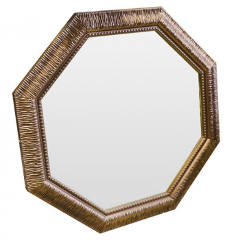 Зеркало восьмиугольное в раме Sparkle Cuprum Медь