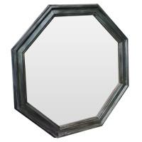 Зеркало восьмиугольное в чёрной раме Magnet