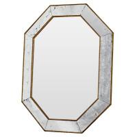Зеркало восьмиугольное в золотой раме Aristocrat goldcant